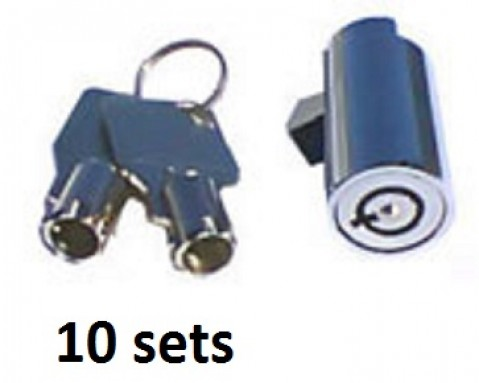 10 New plug locks with 20 keys